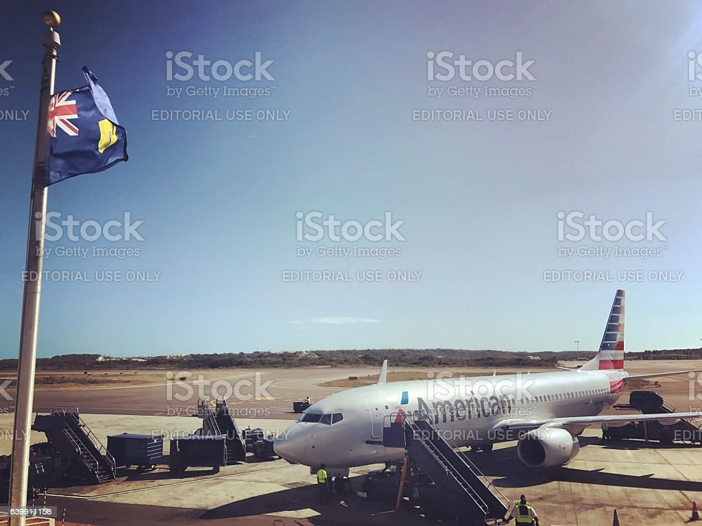 Providenciales Airport, Turks and Caicos Islands stock photo