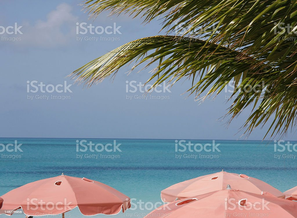 Providenciales Coastline at Grace Bay stock photo