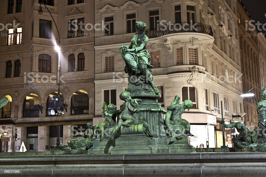 Providentia Fountain in vienna stock photo