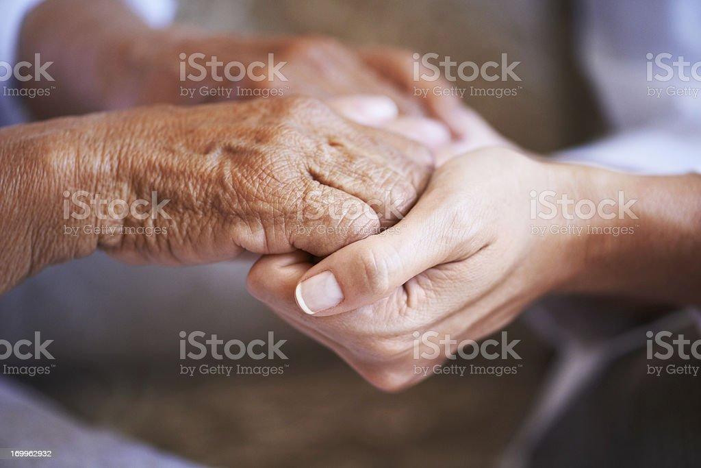 Providing a helping hand stock photo