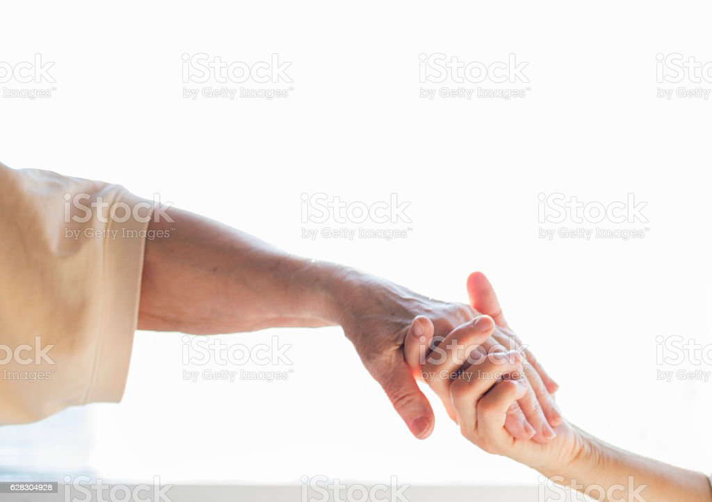 Providing a helping hand stock photo