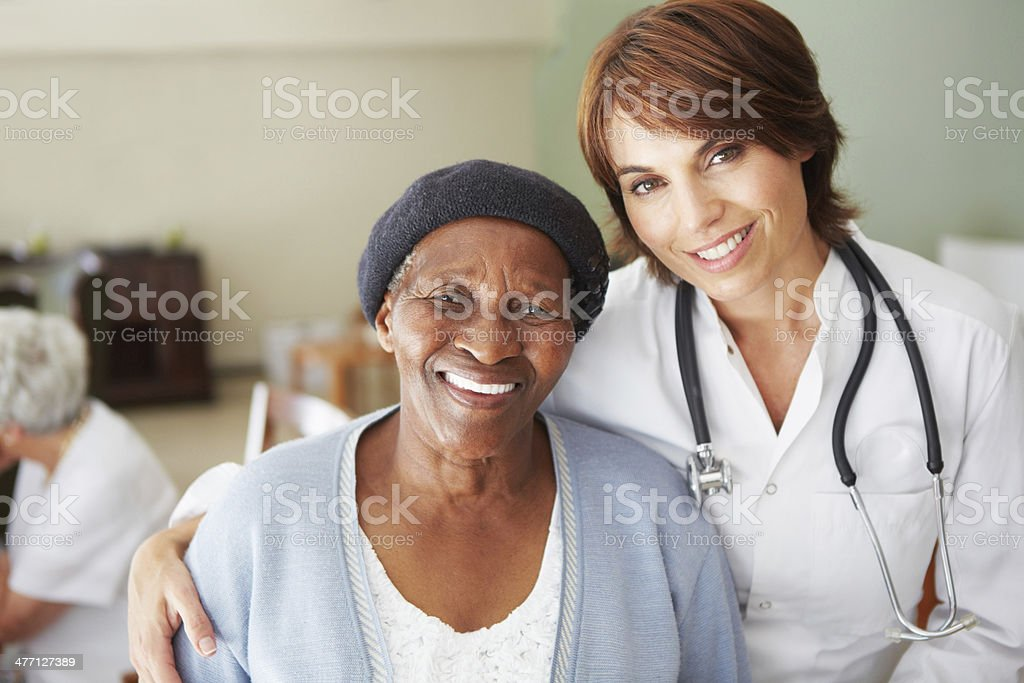 Providing kindly support to her patients stock photo