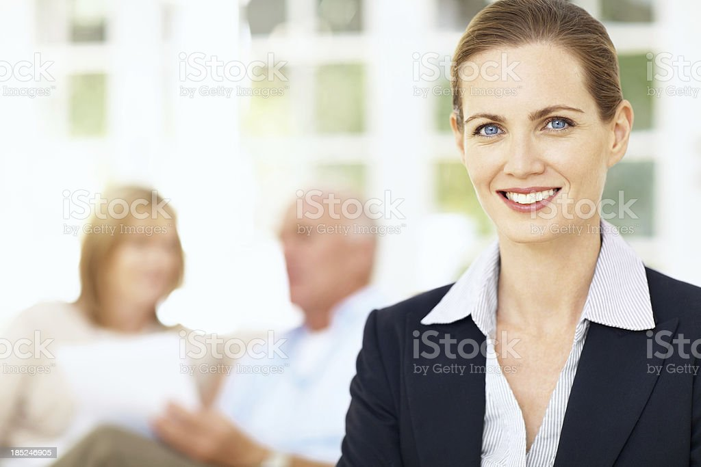 Providing service with a smile royalty-free stock photo