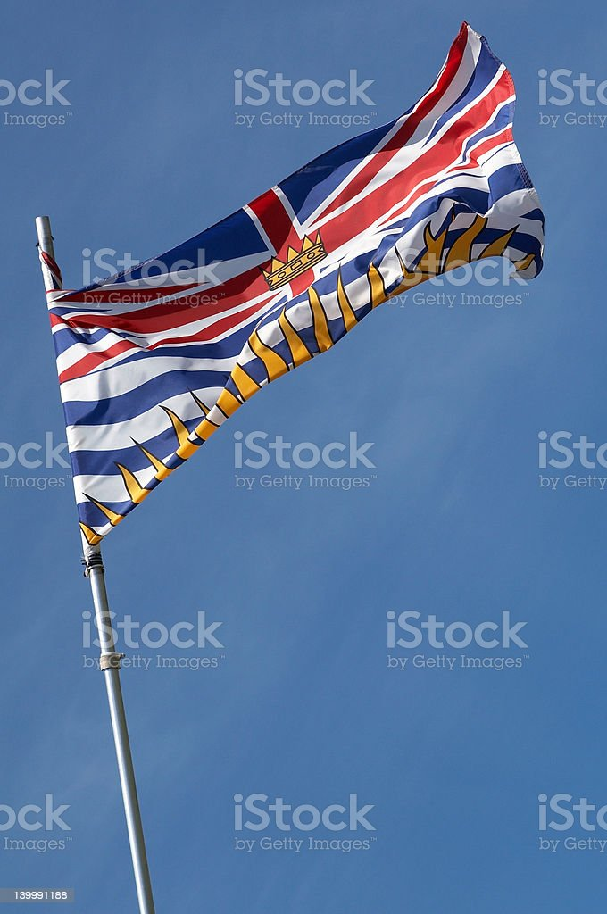 Province of British Columbia Flag stock photo