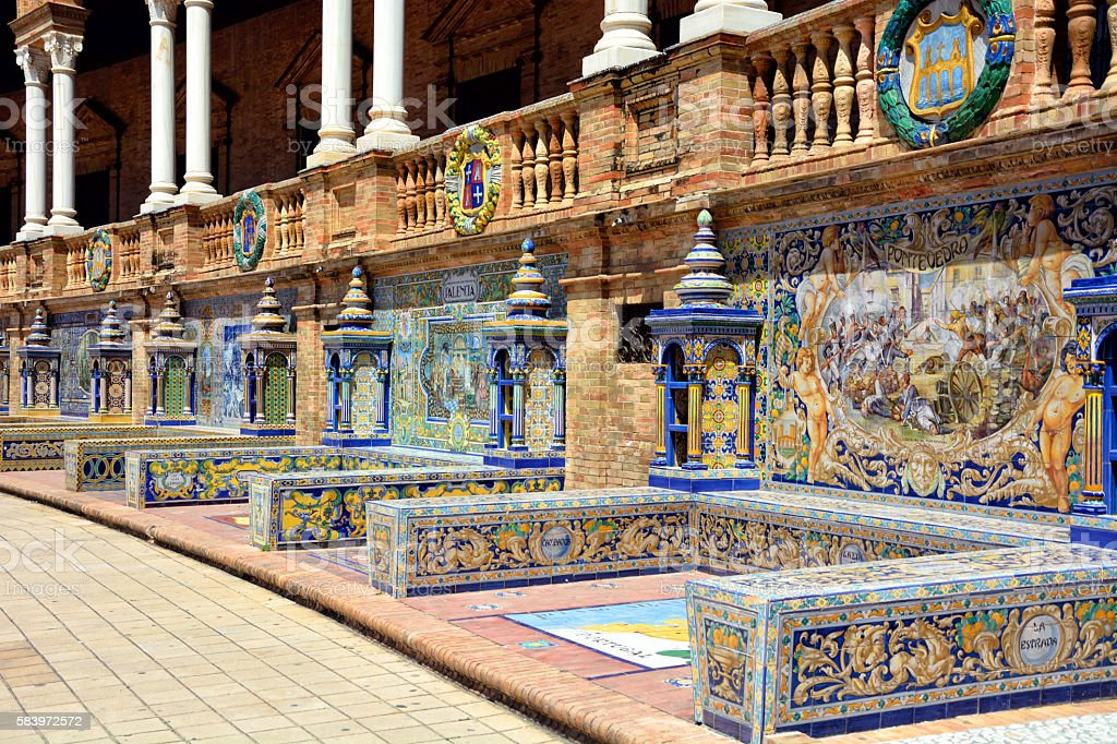 Provincial Alcoves on the Plaza de Espana stock photo