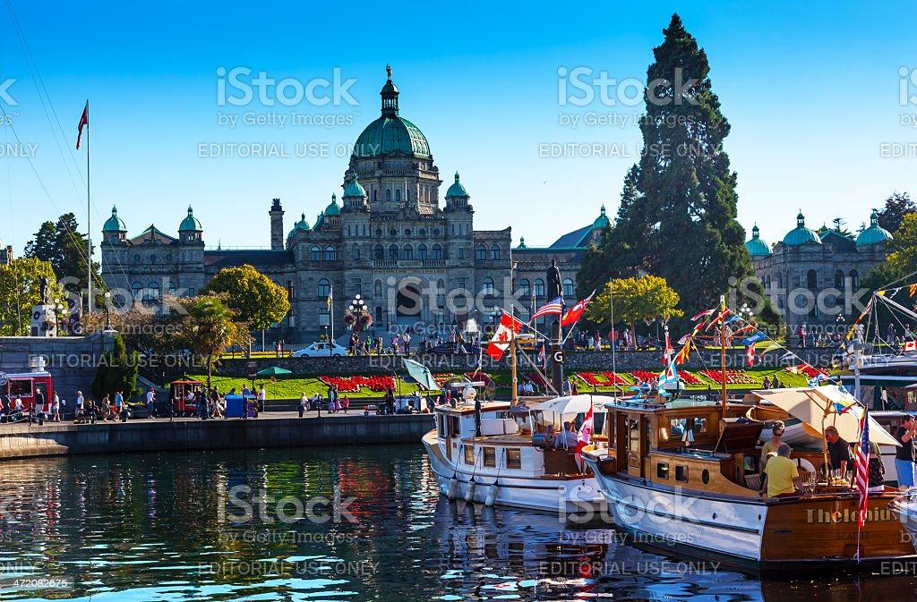 Provincial Capital Legislative Building Inner Harbor Victoria Canada stock photo
