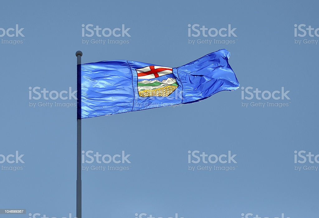 Provincial Flag for Alberta, Canada stock photo