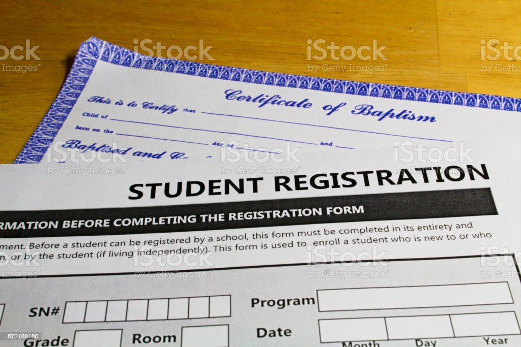 Proving faith in order to attend schools stock photo