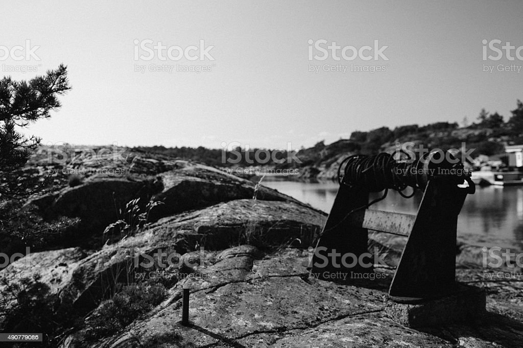 Proving the coast is a harsh place royalty-free stock photo