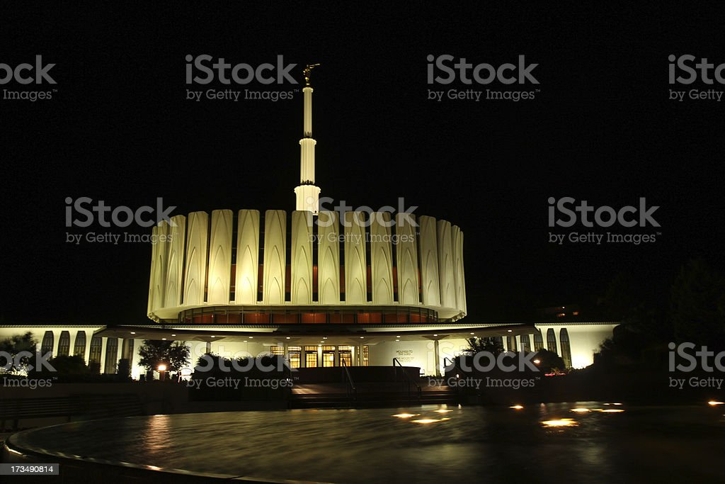 Provo Temple stock photo