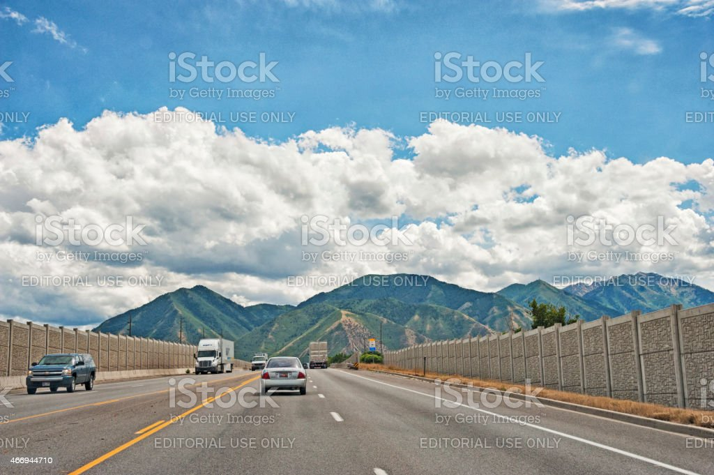 Provo Utah Highway stock photo