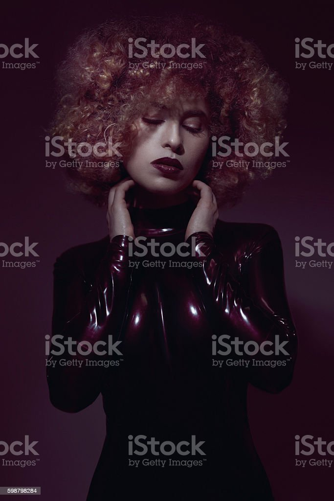 provocative attitude of fashion woman stock photo