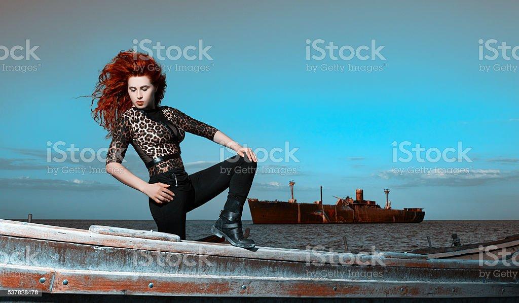 provocative look stock photo