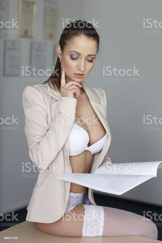 Provocative young businesswoman royalty-free stock photo