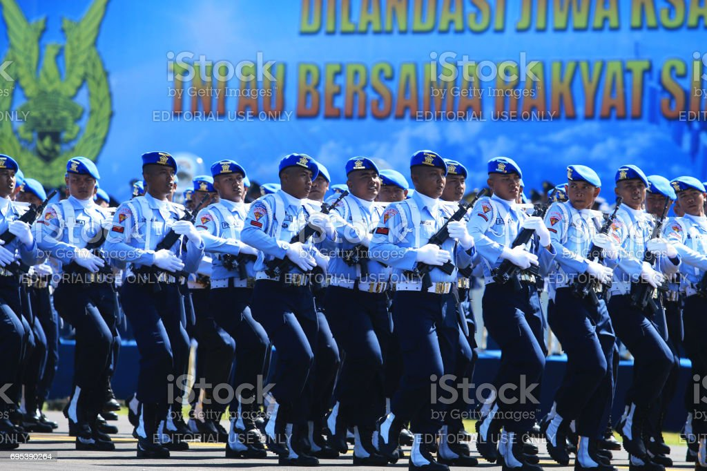 Provost Indonesian Air force Army stock photo