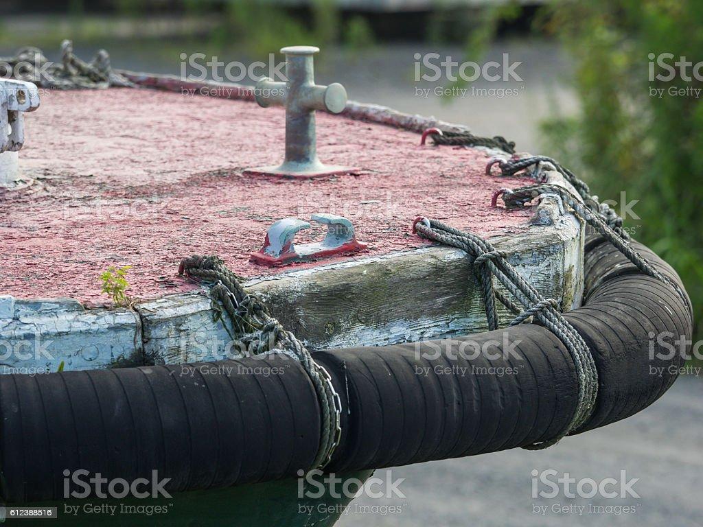 Prow of abandoned ship stock photo