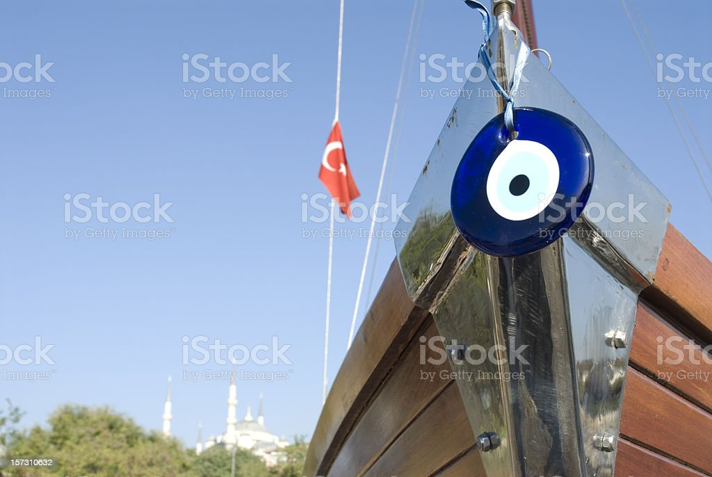 Prow with Evileye royalty-free stock photo