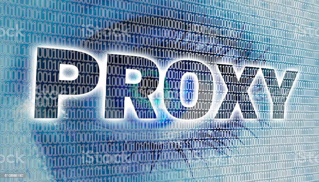 Proxy eye with matrix looks at viewer concept stock photo
