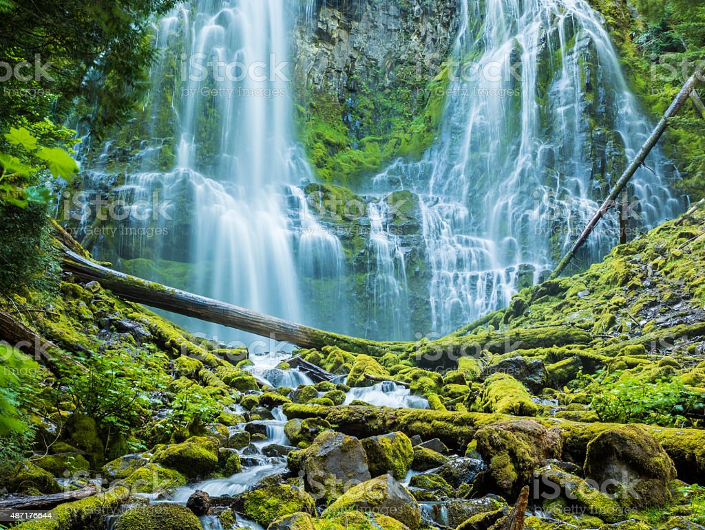 Proxy Falls, Willamette National Forest, Central Oregon stock photo