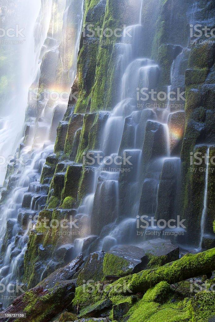 Proxy Falls with Rainbow stock photo