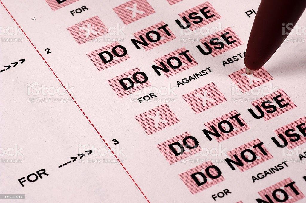 Proxy Vote stock photo