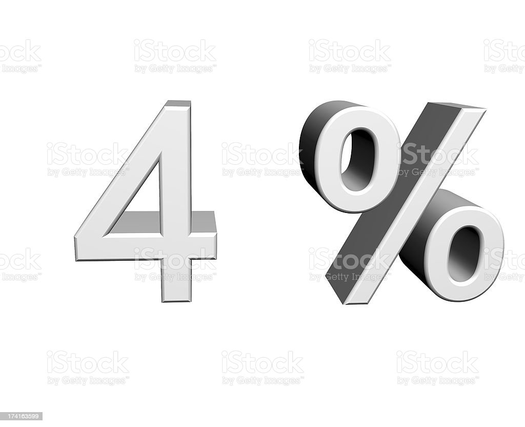 4 Prozent royalty-free stock photo