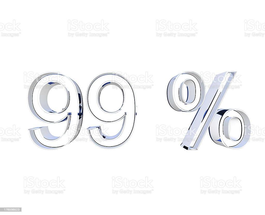 99 Prozent stock photo