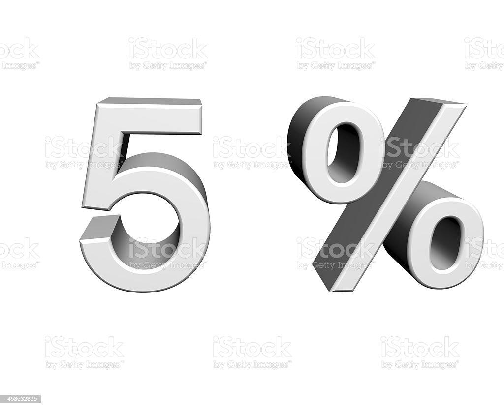 5 Prozent stock photo