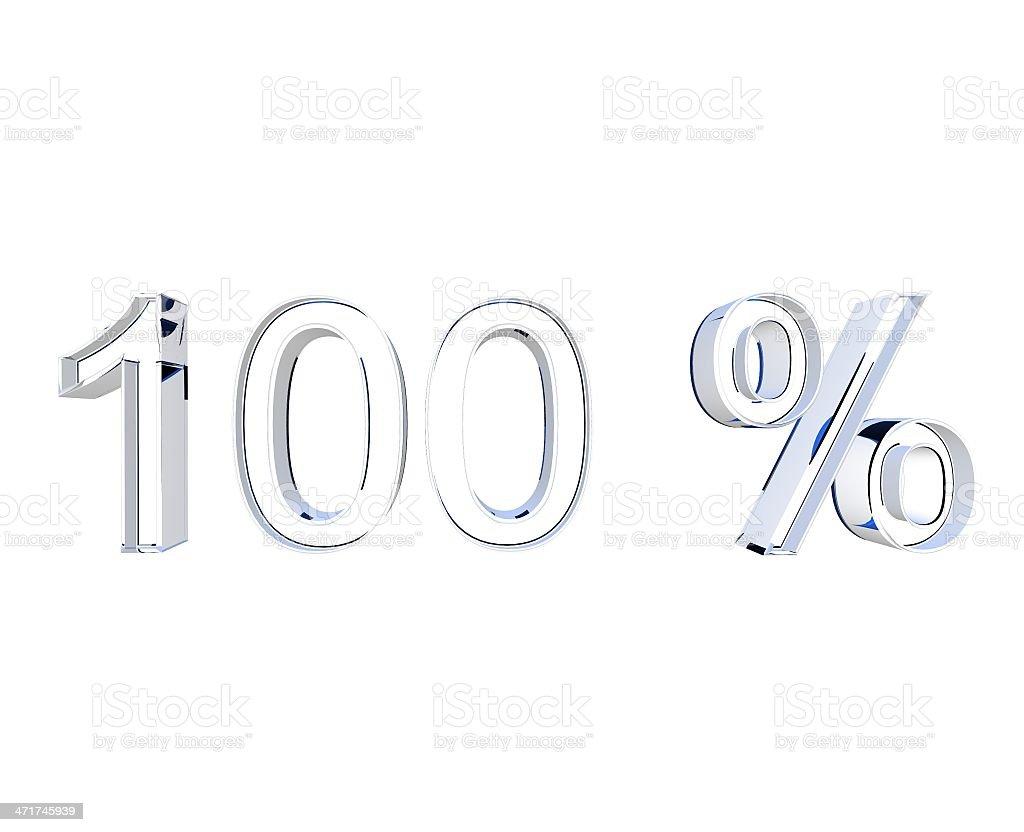 100 Prozent stock photo