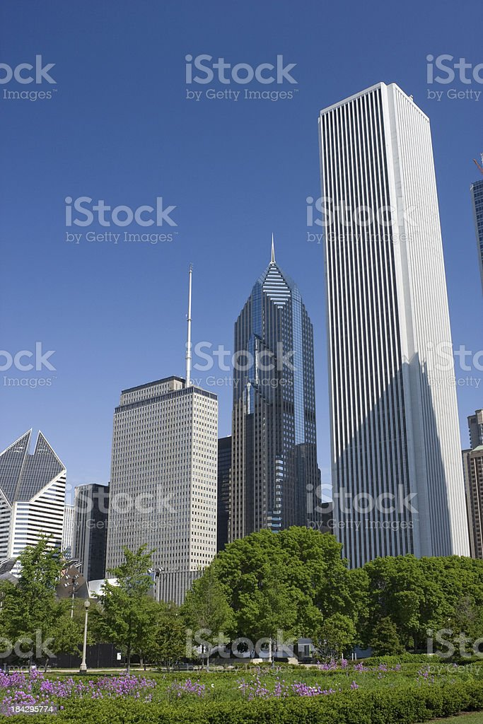 Prudential Plaza in Chicago stock photo