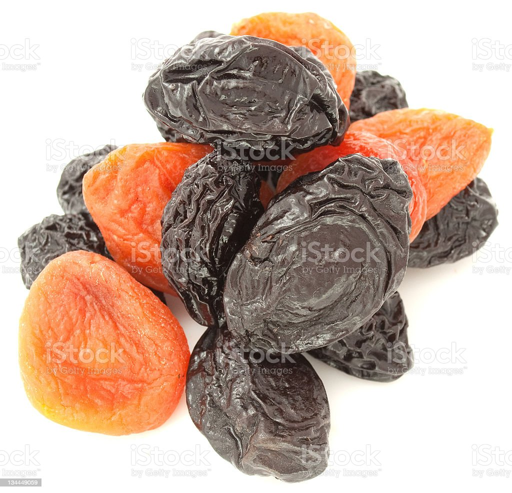 Prunes and Dried Apricots royalty-free stock photo