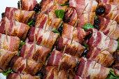 Prunes in bacon