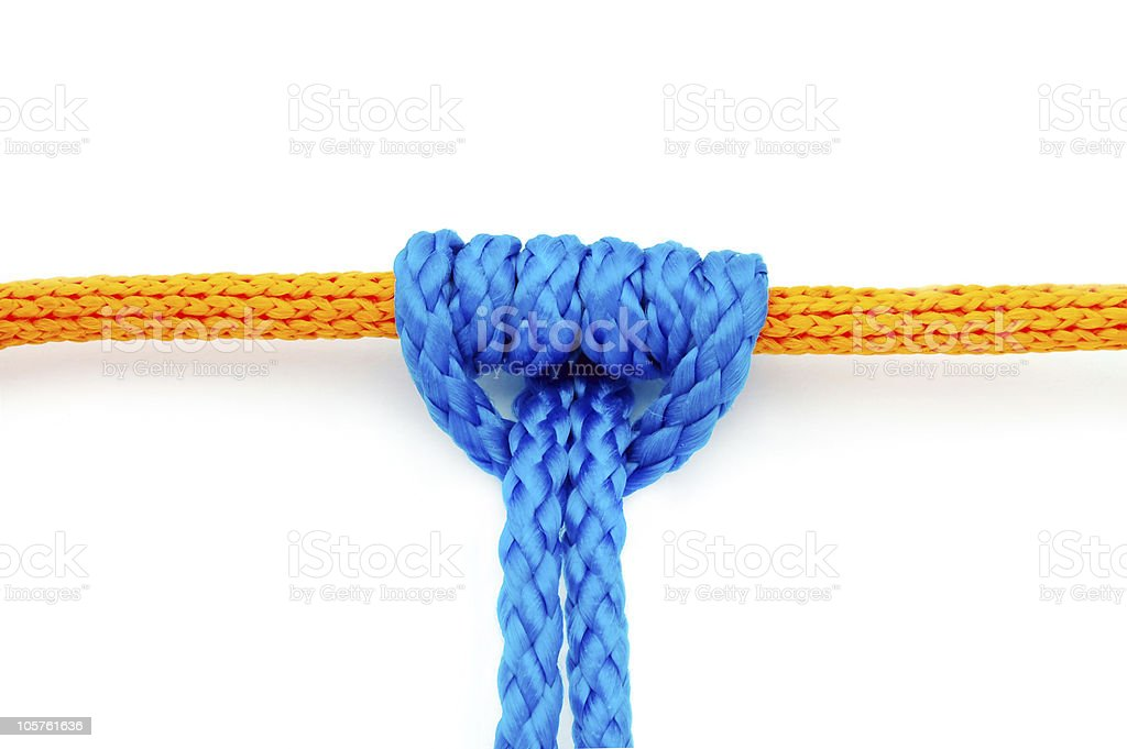 Prusik Knot or Triple Sliding Hitch royalty-free stock photo