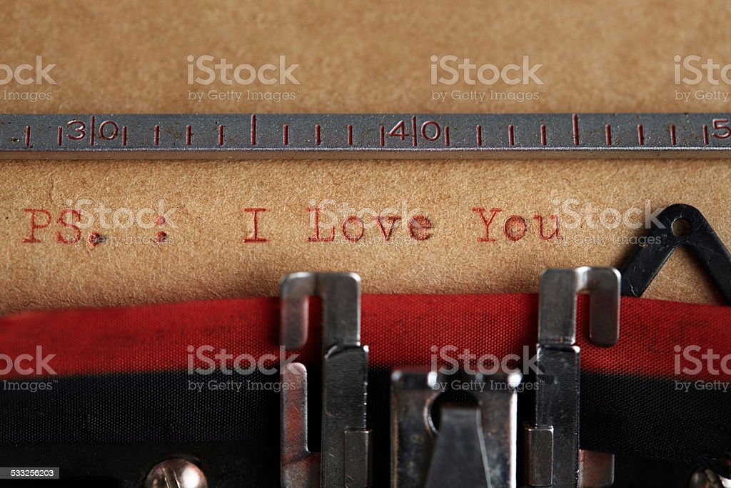 Ps I Love You stock photo