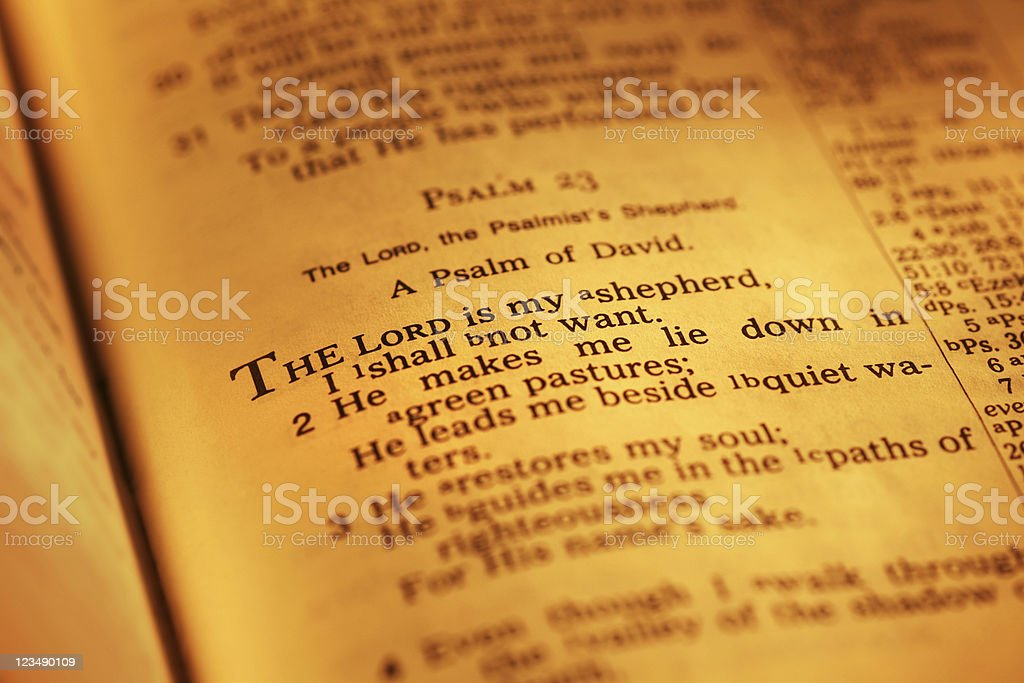 Psalm 23 stock photo