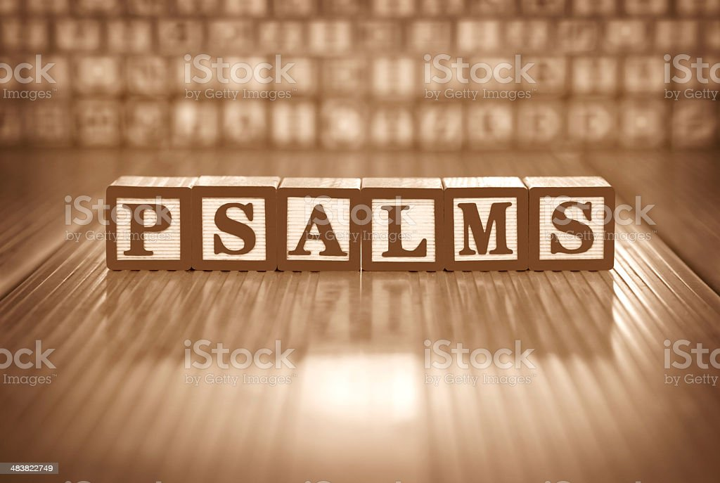 Psalms (#15 of series) royalty-free stock photo