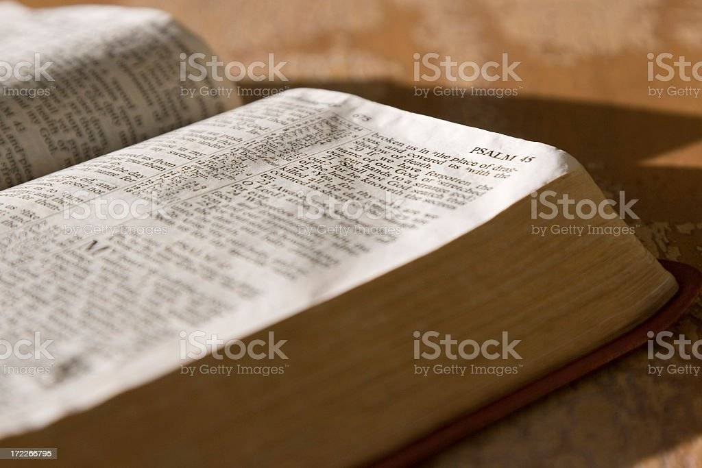 Psalms scripture in the holy bible stock photo