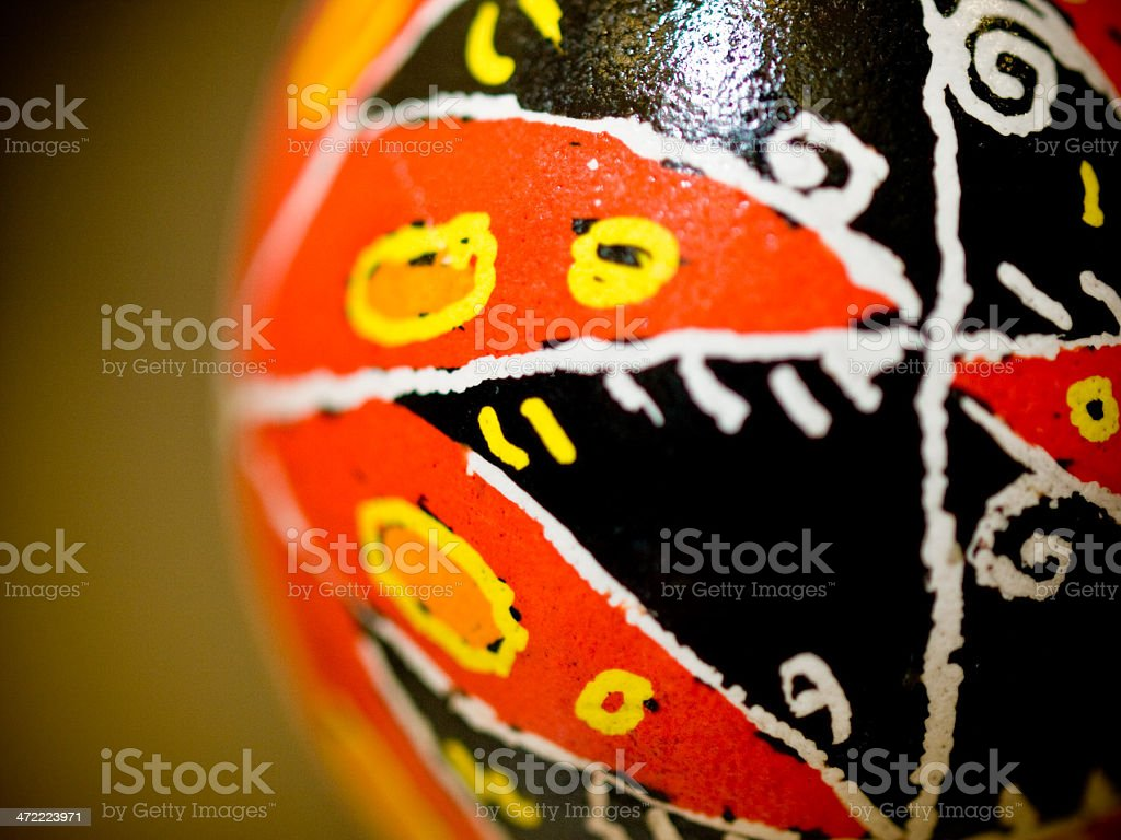 Psanky Ukranian Easter Egg Coloring stock photo