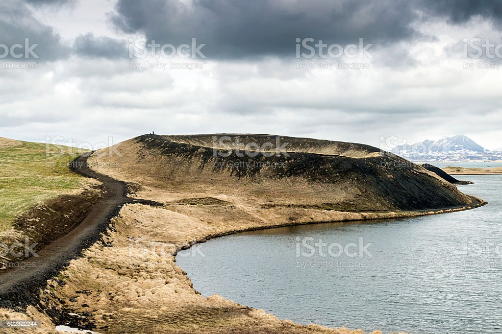 Pseudocrater at Myvatn, northern Iceland stock photo