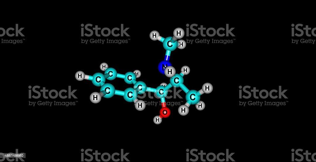 Pseudoephedrine molecular structure isolated on black stock photo