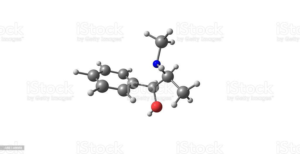 Pseudoephedrine molecular structure isolated on white stock photo