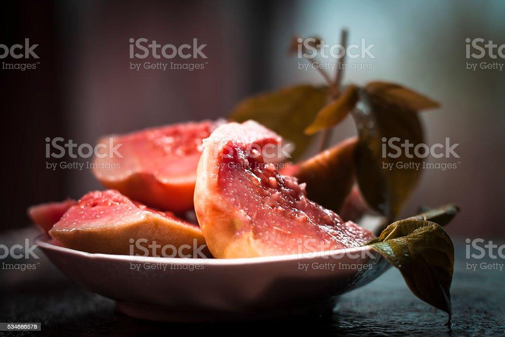 Psidium guajava Guavas are common tropical fruits. stock photo
