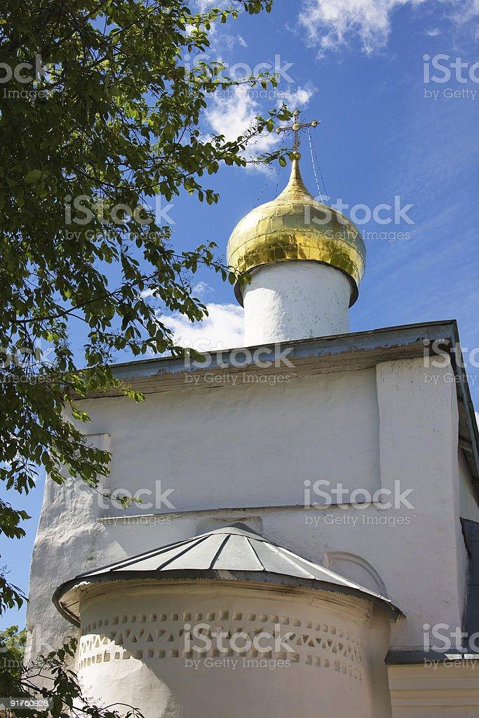 Pskov, Russia. The Snetogorsky female monastery royalty-free stock photo