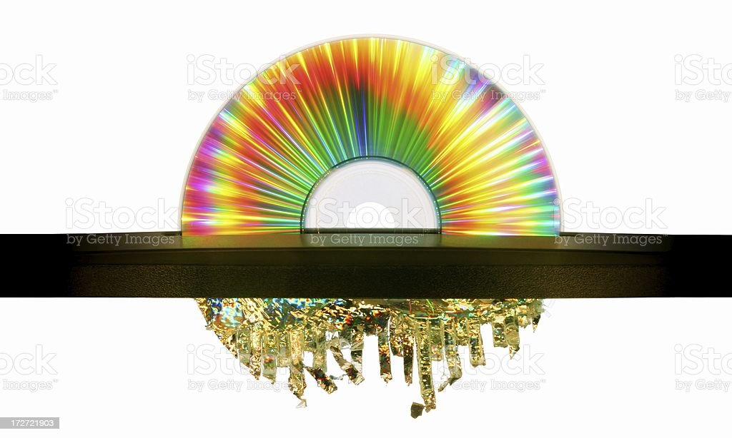 Psychedelic CD Shredder stock photo