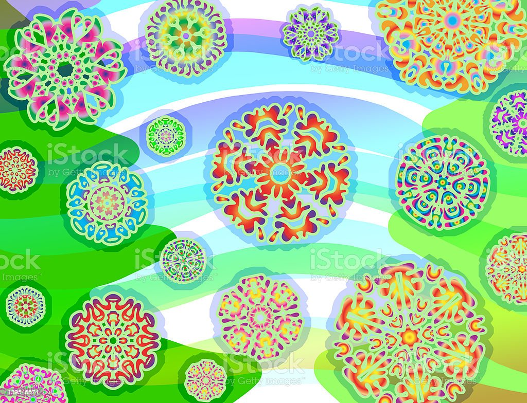 Psychedelic Holi-daze (horizontal) stock photo