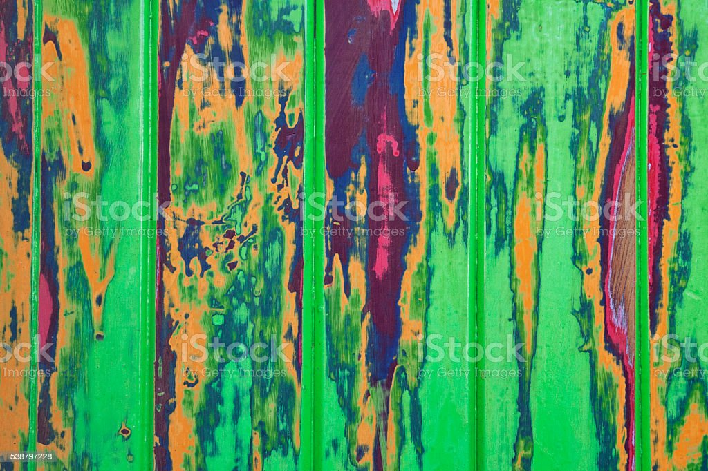 Psychedelic Paint Wood Background stock photo
