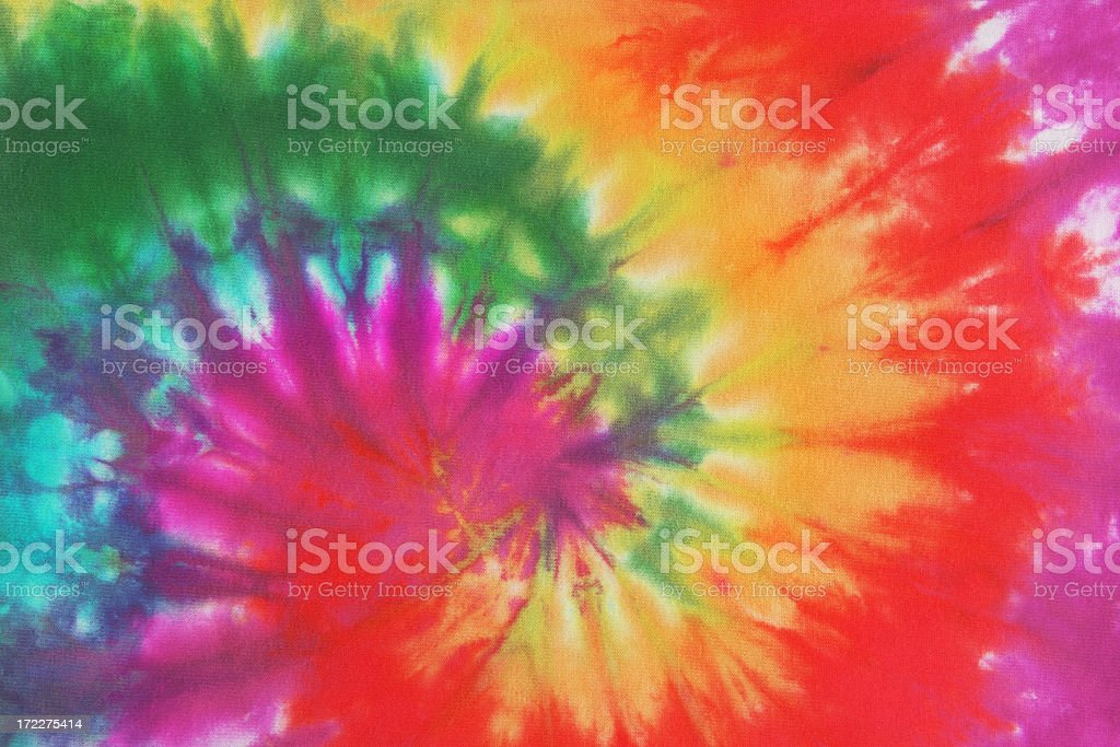 Psychedelic Tie Dye, a 1960s Style Symbol of Peace Background stock photo
