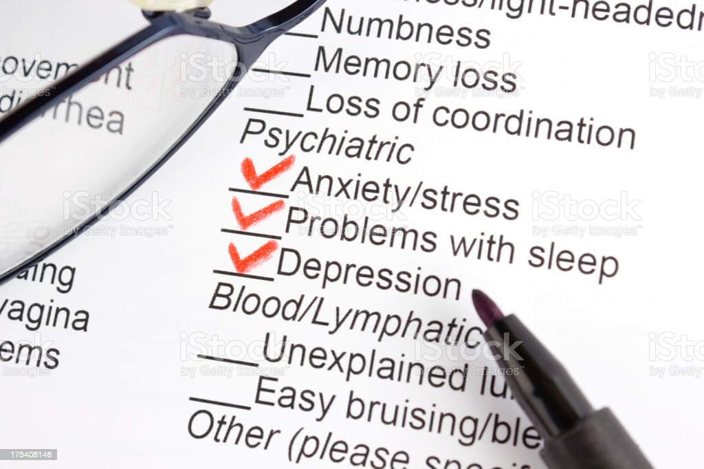 Psychiatric symptoms stock photo