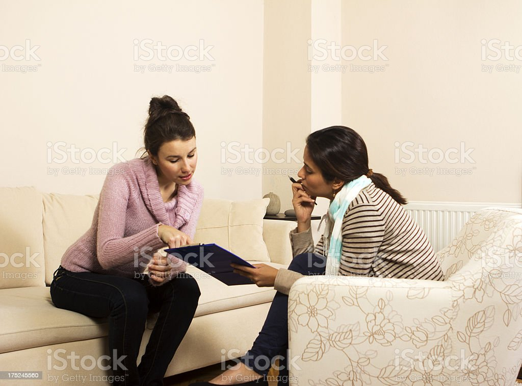 Psychiatrist and Patient royalty-free stock photo