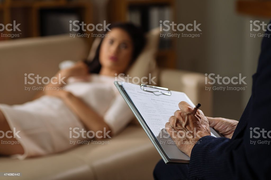 Psychiatrist session stock photo